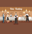 wine tasting concept flat vector image