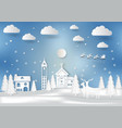 winter season with snowflake and santa of merry vector image vector image