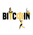 word concept bitcoin and people doing things vector image