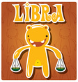 Zodiac sign Libra with cute colorful monster vector image vector image