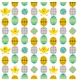 Seamless easter pattern with eggs and rabbit vector image