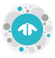 of air symbol on jacket icon vector image
