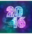 2016 inscription on blurred background with vector image vector image