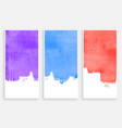 abstract watercolor brush stain banners set design vector image vector image