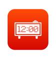 alarm clock icon digital red vector image vector image