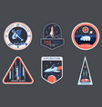 astronaut chevron or spaceman suit patchcosmonaut vector image
