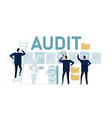 audit business auditing accounting analyze vector image