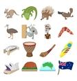 Australia icons cartoon vector image vector image