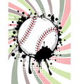 Baseball Ball on Background with Rays3 vector image vector image