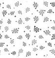 black thermometer with snowflake icon isolated vector image vector image