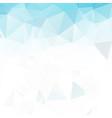 blue white polygonal mosaic background geometric vector image vector image