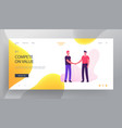 business meeting website landing page young vector image vector image