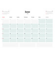 calendar planner template for 2018 year june vector image vector image