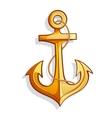 cartoon anchor vector image