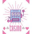 casino slot machine blackpot fortune game cartoon vector image