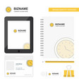 clock business logo tab app diary pvc employee vector image vector image
