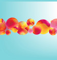 color flow poster with balls banner vector image vector image