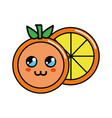 color kawaii cute orange icon vector image