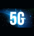 creative of 5g signal vector image vector image