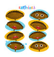 cute african american baby boy emotions set vector image vector image