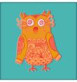 Cute Decorative Owl Lacy bird vector image vector image