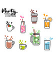 drinks icon splashes vector image vector image