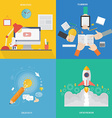 Element of workspace creative teamwork and vector image vector image