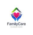 family home care logo design vector image vector image