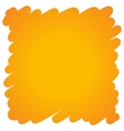 Filled felt pen orange background vector image
