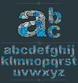 Floral alphabet sans serif letters drawn using vector image vector image