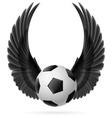 Flying ball vector image vector image