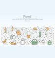 food advertising flat line art vector image vector image