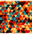 geometric triangle pattern background vector image vector image