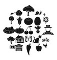 granary icons set simple style vector image vector image