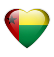Guinea Bissau flag button vector image