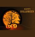 halloween pumpkin party background vector image vector image