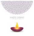 happy diwali beautiful background design vector image vector image