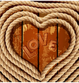heart coiled rope vector image