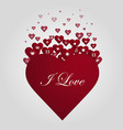 heart of icons vector image