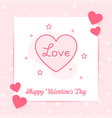 heart valentine card text love line icon vector image vector image