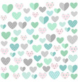 hearts background valentines day vector image