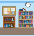 home study room with books design vector image