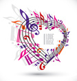 I love music template in red pink and violet vector image