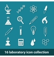 laboratory icons vector image vector image