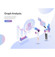 landing page template graph analysis isometric vector image vector image