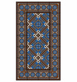 large brown and blue carpet vector image vector image