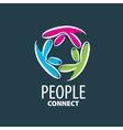logo people vector image vector image