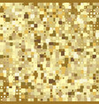 luxury gold mosaic background or golden square vector image vector image