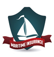 maritime design vector image