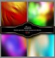 Mosaic gradient geometric background set vector image